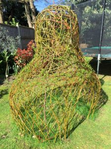 Living willow pear sculpture structure