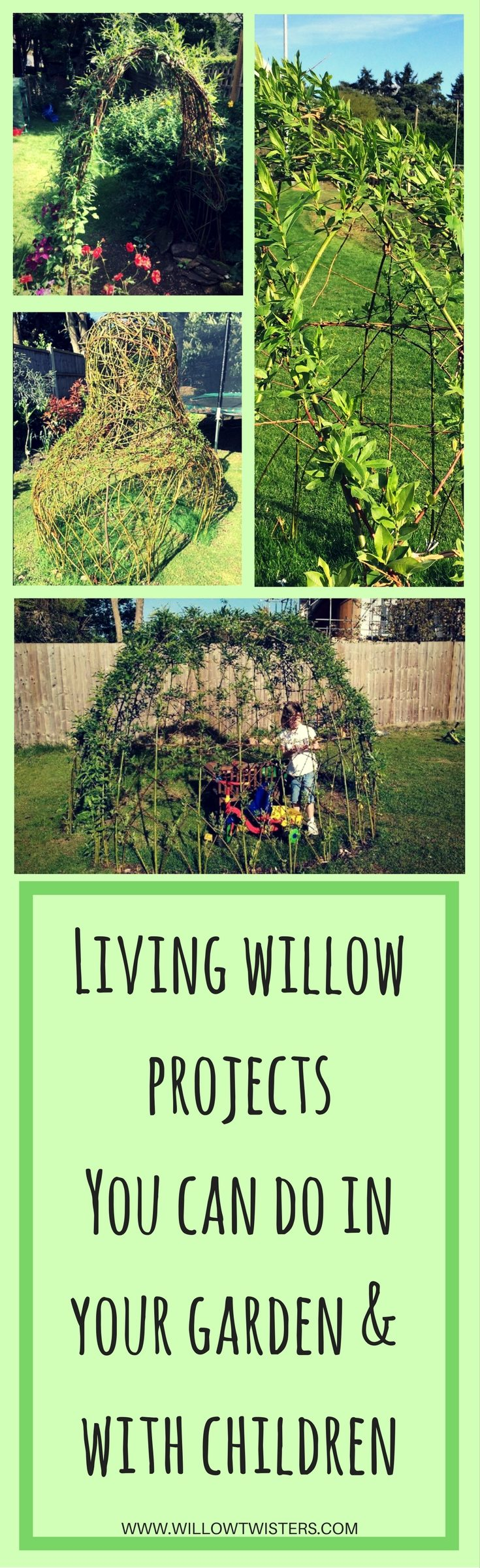 living willow sculptures structures