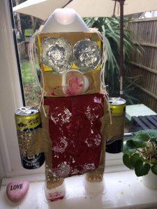 kids art craft activity recycled art