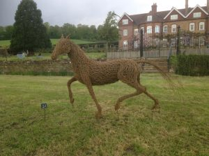 Willow animal horse sculpture