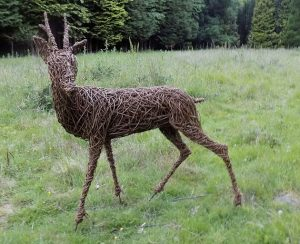 willow wicker animal deer